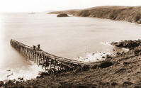 Jetty at Porth Ysgo
